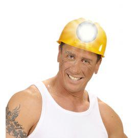 Casco de obrero con linterna