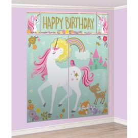 Fondo pared unicornio