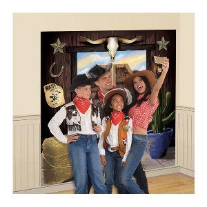 Fondo pared selfie fiesta oeste