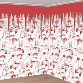 Fondo pared sangriento halloween