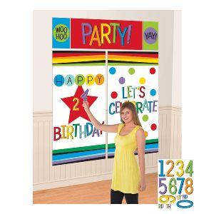 Fondo pared cumpleaños personalizable