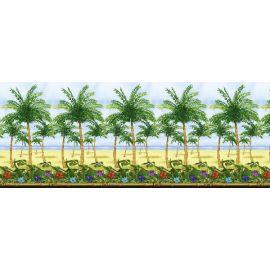 Decorado pared fiesta hawaiana