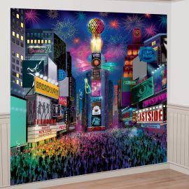 Decoración pared año nuevo Times Square