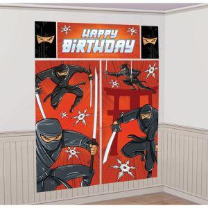 Decoración pared ninja