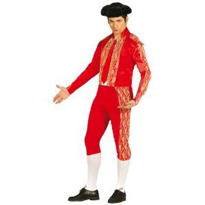 Disfraz torero rojo adulto