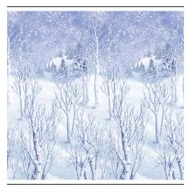 Decoración pared paisaje invierno