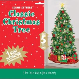 Decoración pared árbol de navidad