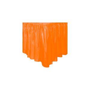 Faldon de mesa naranja