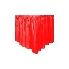 Faldon de mesa rojo