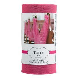 Rollo de tul rosa