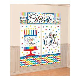 Fondo decoración tarta cumpleaños