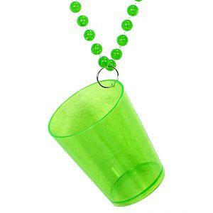 Collar con vaso verde