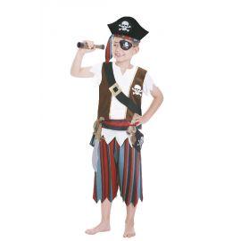 Disfraz pirata con accesorios 3-6