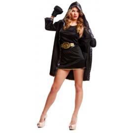 Disfraz boxeadora negro ad