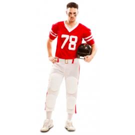 Disfraz jugador de rugby rojo