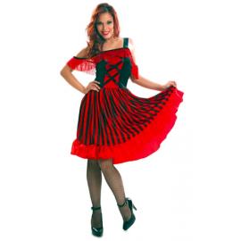 Disfraz chica vaquera saloon rojo
