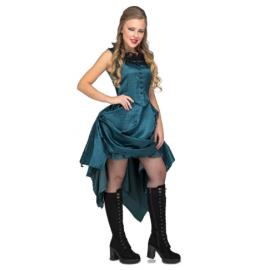 Disfraz chica vaquera saloon azul