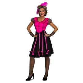 Disfraz senorita vaquera saloon rosa
