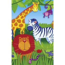 Mantel animales papel 137x259