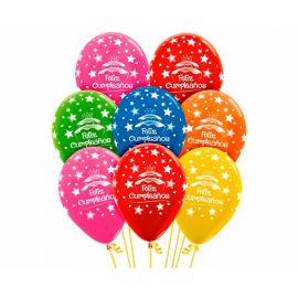 Globos feliz cumpleaños tarta