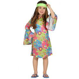 Disfraz hippie niña vestido