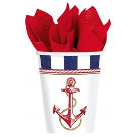 Vasos fiesta marinera pack 8