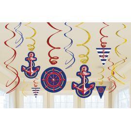Decoracion colgante fiesta marinera