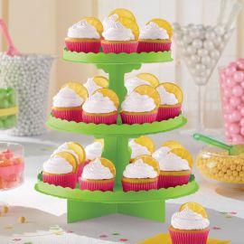 Bandeja 3 pisos para cupcakes verde