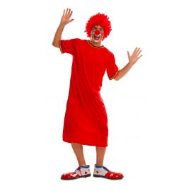 Disfraz payaso rojo tunica