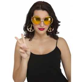 Gafas hippie con colgantes paz