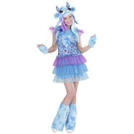 Disfraz chica monstruosa azul talla s