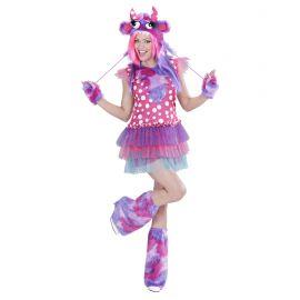 Disfraz chica monstruosa rosa