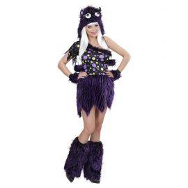 Disfraz chica monstruosa violeta lujo