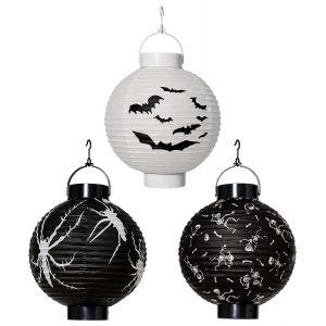 Farolillo halloween con luz surt 20cm