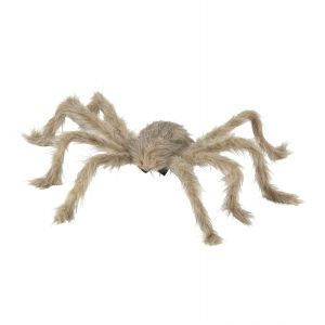 Araña parda peluda moldeable 45cm