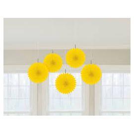 Flores colgantes amarilas 5 unidades