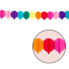 Guirnalda papel globos 3m