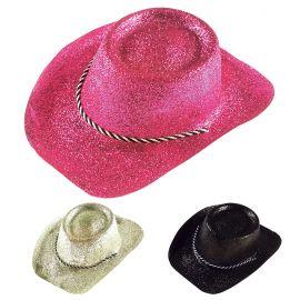 Sombrero vaquero purpurina surt