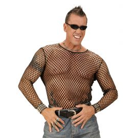 Camiseta rejilla negra