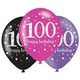 Globos 100 mix rosa