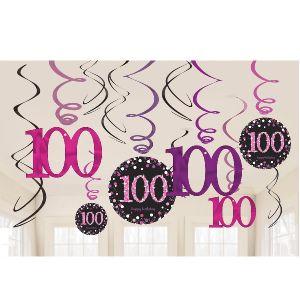 Decoracion colgante 100 rosa