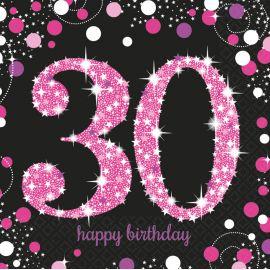 Servilletas 30 rosa pack 16