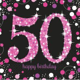 Servilletas 50 rosa pack 16