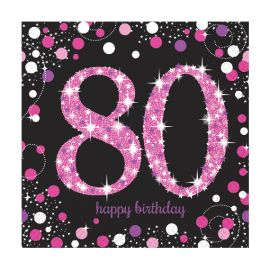 Servilletas 80 rosa pack 16