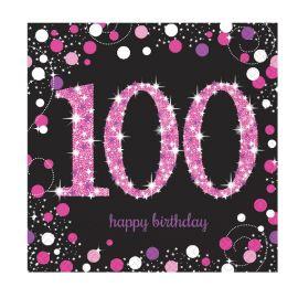 Servilletas 100 rosa pack 16
