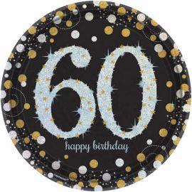 Platos celebracion 60 cumple oro