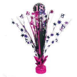 Peso centro de mesa 18 rosa
