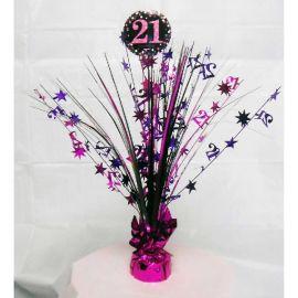 Peso centro de mesa 21 rosa