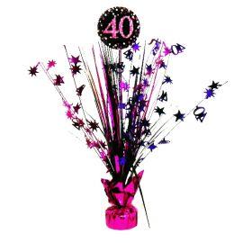 Peso centro de mesa 40 rosa