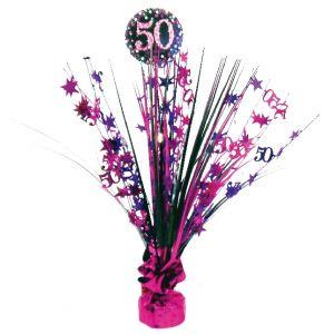 Peso centro de mesa 50 rosa